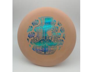Classy Basket Wizard - Peach - Eraser- Cyan Foil Stamp
