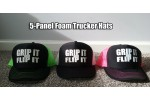 HF Trucker Hats - 5 Panel Foam Front