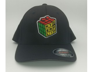 HF Cube Embroidered Cap - Black Flexfit