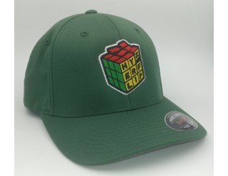 HF Cube Embroidered Cap - Green Flexfit