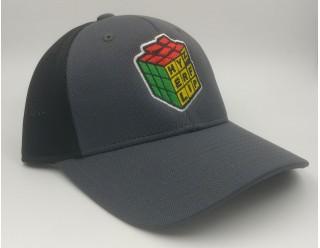 HF Cube Embroidered Cap - Black/Grey Performance Flexfit
