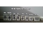 HF Disc Golf Family Car Stickers - Full Set