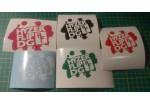 Vinyl Decals - HF Logo - 3.5in